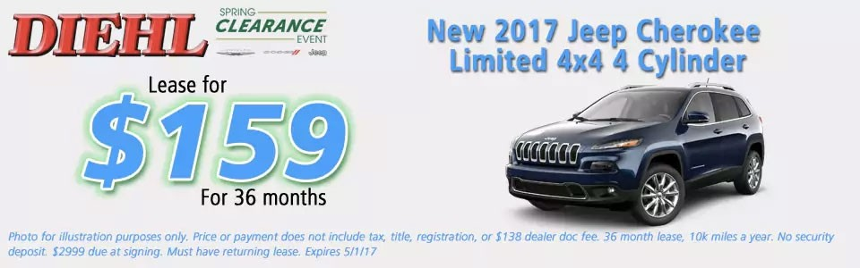 New 2017 Jeep Cherokee Limited 4x4