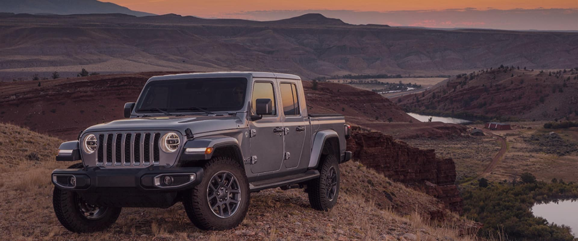 Jeep over canyon