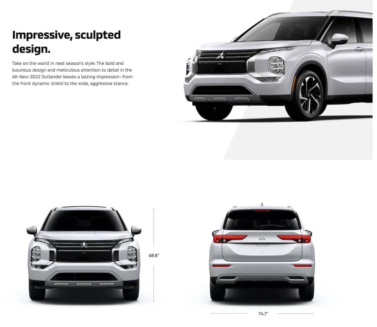 2022 Mitsubishi Outlander Sculpted Design