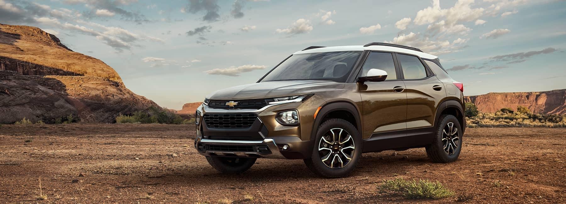 2021 Chevrolet Trailblazer on a Dirt Rd