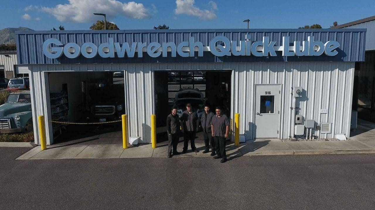 Quick Lube building with Technicians