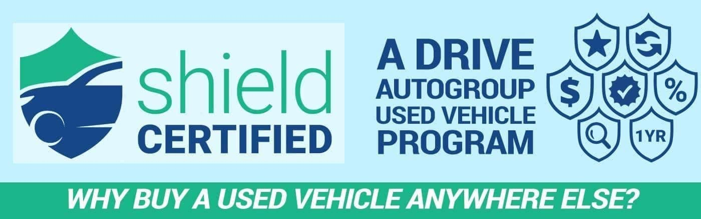 Drive Shield Used Vehicle program banner