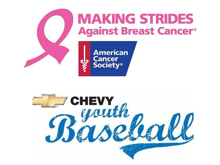 Cancer society & Youth baseball logos