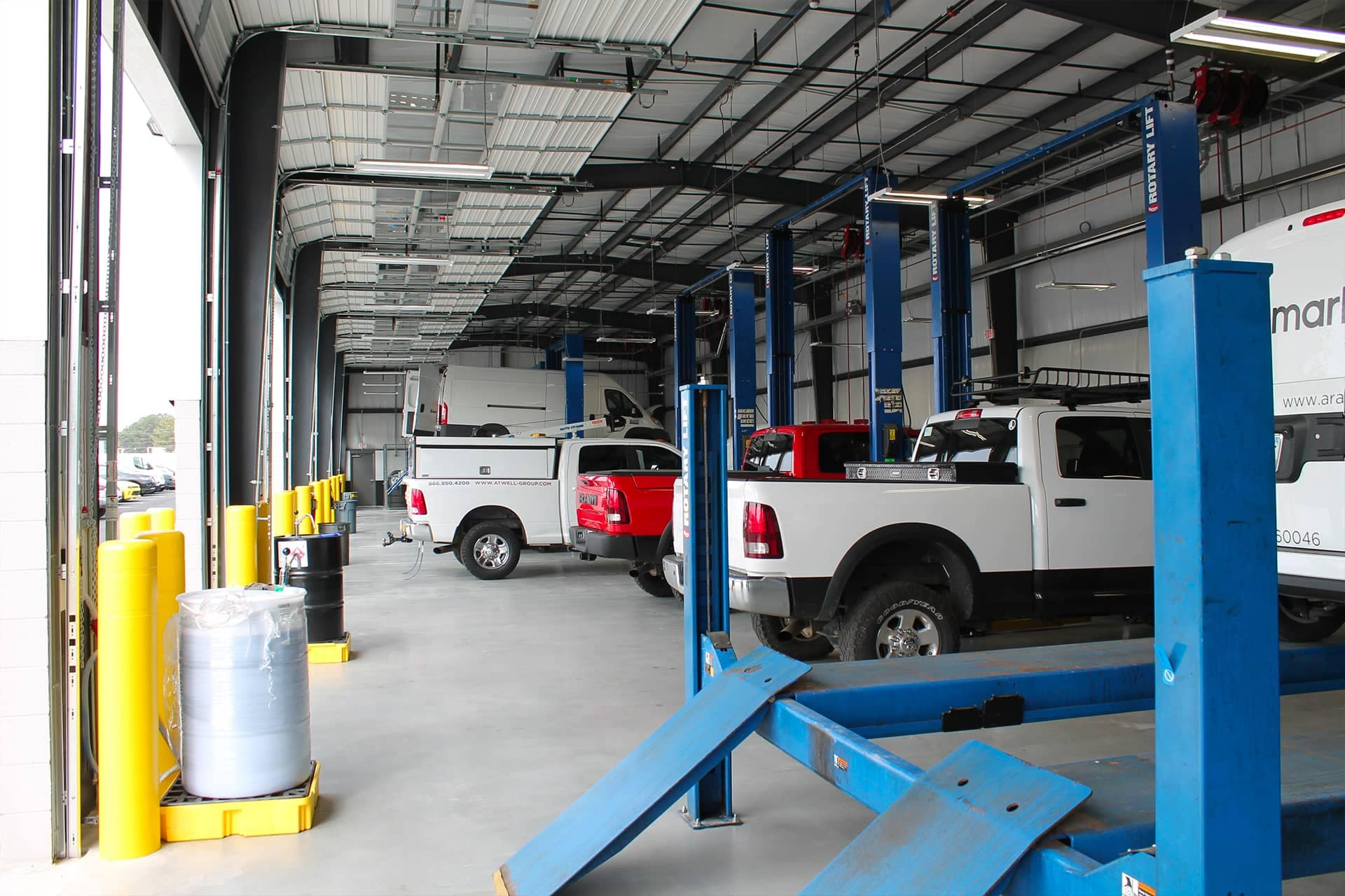 Commercial Truck Service Bays located at Ed Voyles Chrysler Dodge Jeep Ram in Marietta, Georgia