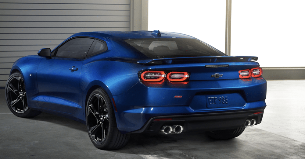 2020 camaro trim blue