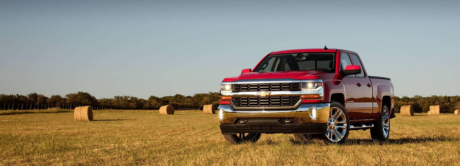 2018 Silverado 1500 Parked in a Field at an angle