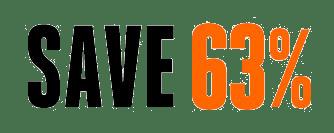 Save 63%