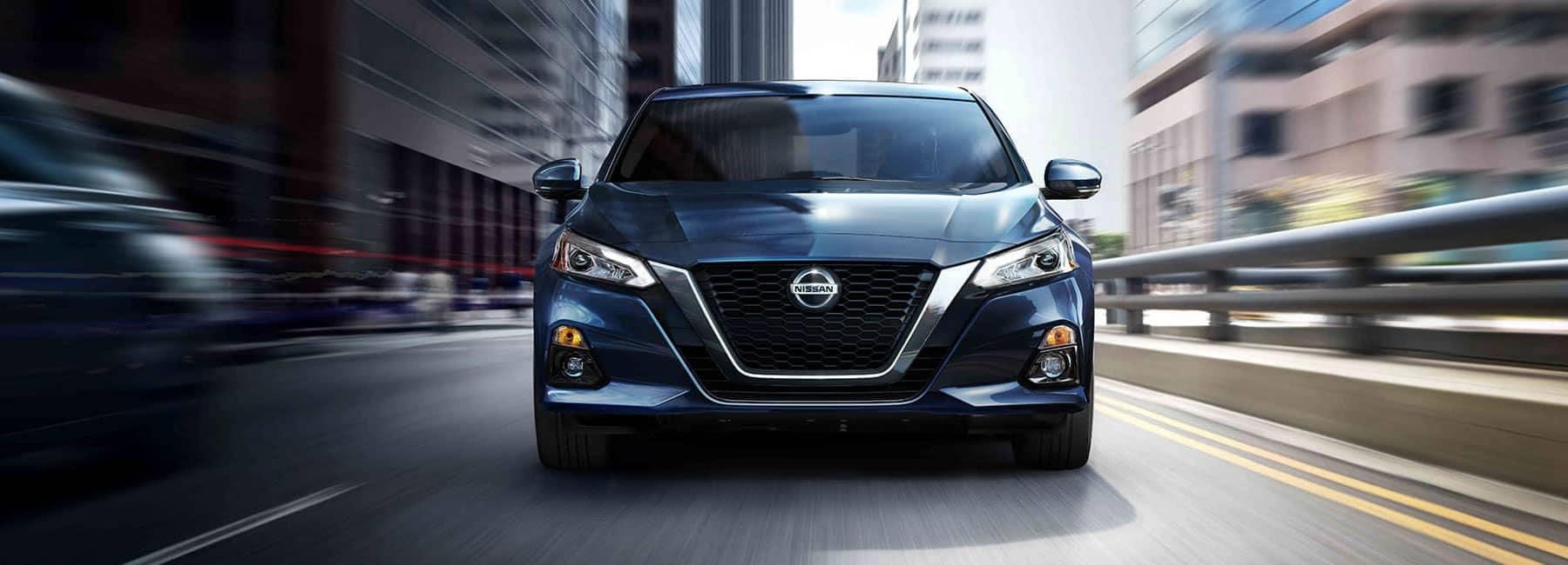 2019 Blue Nissan Altima straight on