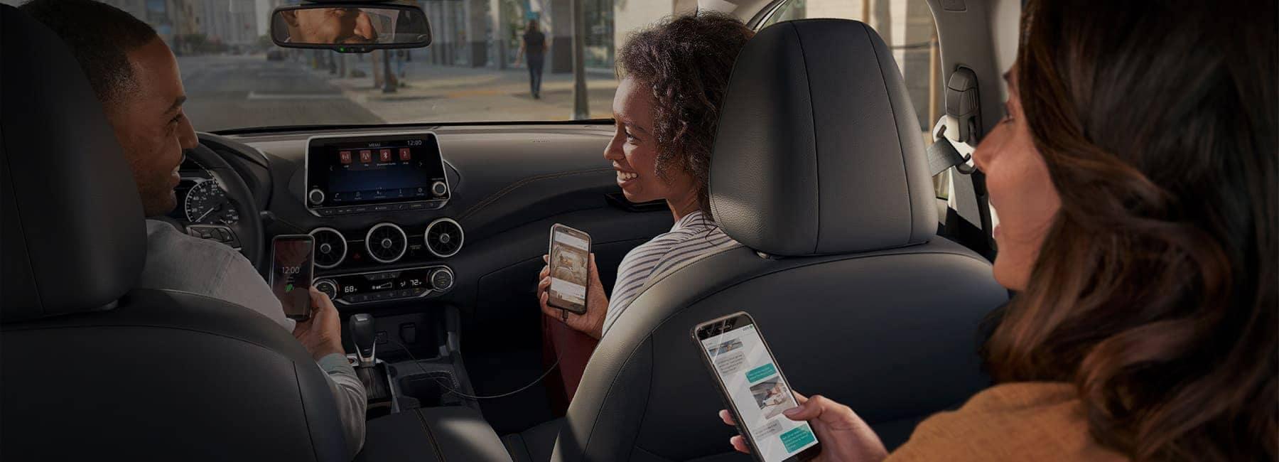 2020 Nissan Sentra Interior lifestyle phone shot