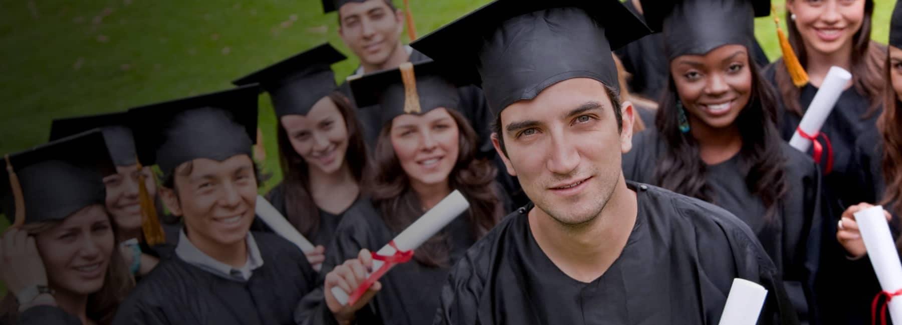 College Graduates with their Diplomas