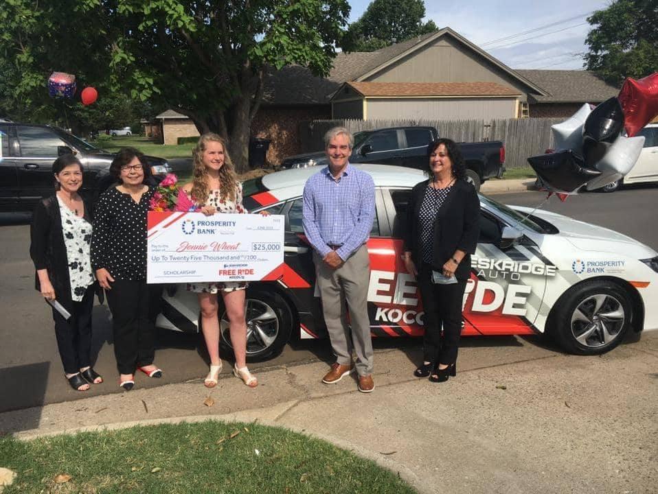 Free Ride Winner Accepts Scholarship