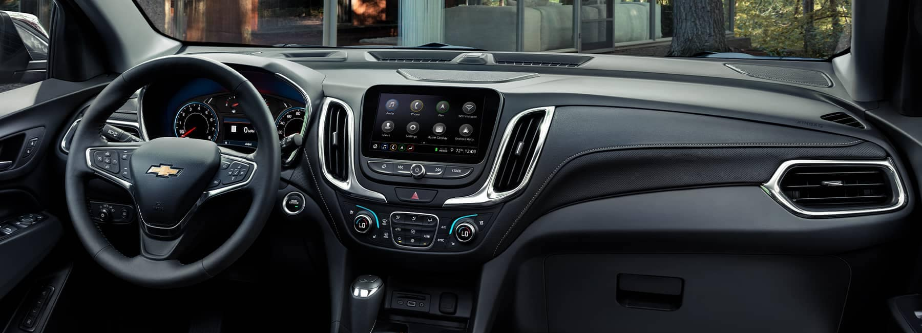 Interior dashboard of a 2021 Chevrolet Equinox