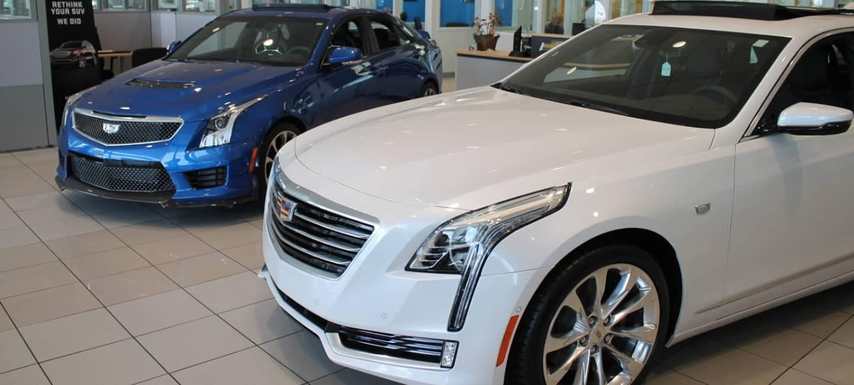 Everett Cadillac dealership showroom
