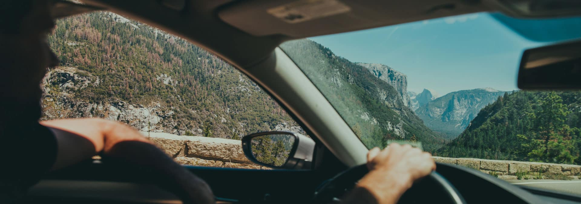 Driving through Mountains