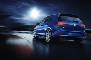 VW Golf R in Silk Blue Metallic