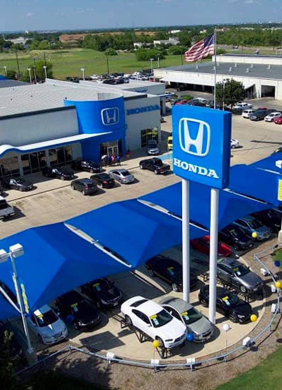 aerial exterior view of dealership