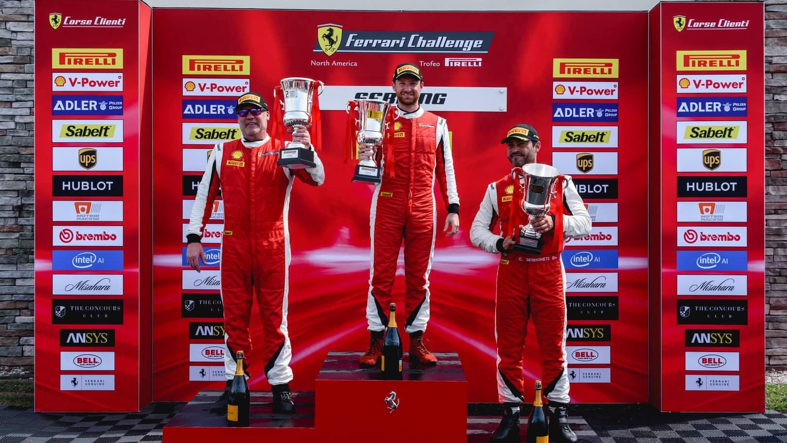 ferrari challenge 2019 podium