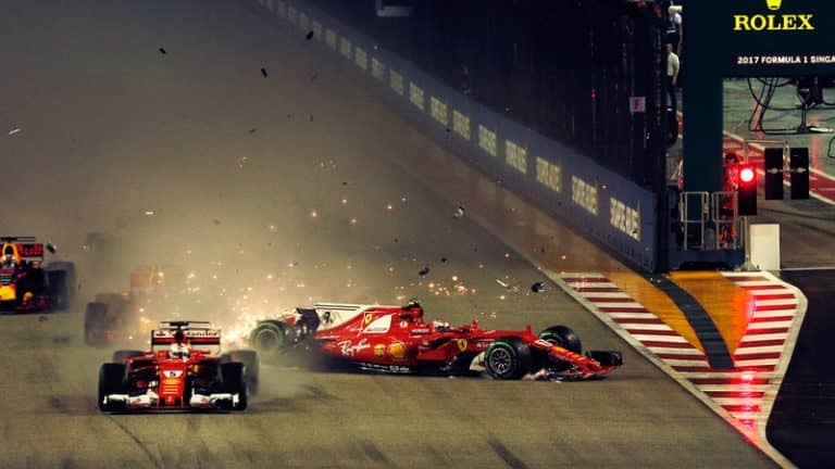 Vettel Singapore GP Crash