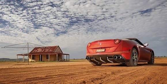 Ferrari on a farm