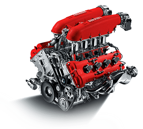 Ferrari red engine