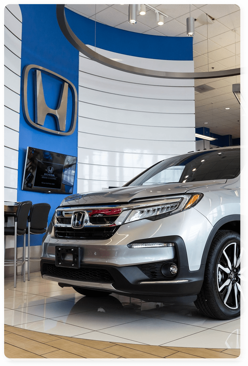 Inside of Northside Honda Showroom