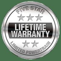 Five Star Lifetime Warranty