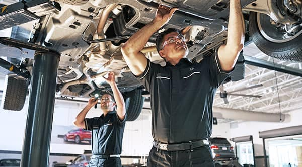 MB service techs working