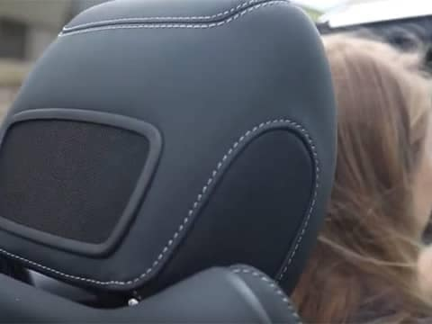 Headrest of Mercedes-Benz vehicle