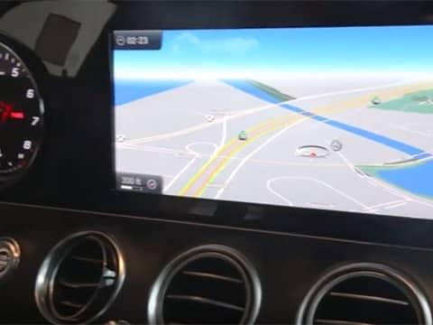 Mercedes-Benz navigation screen