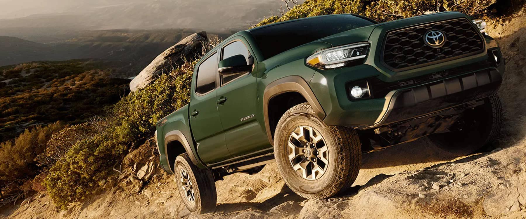2021 Toyota Tacoma driving in sand