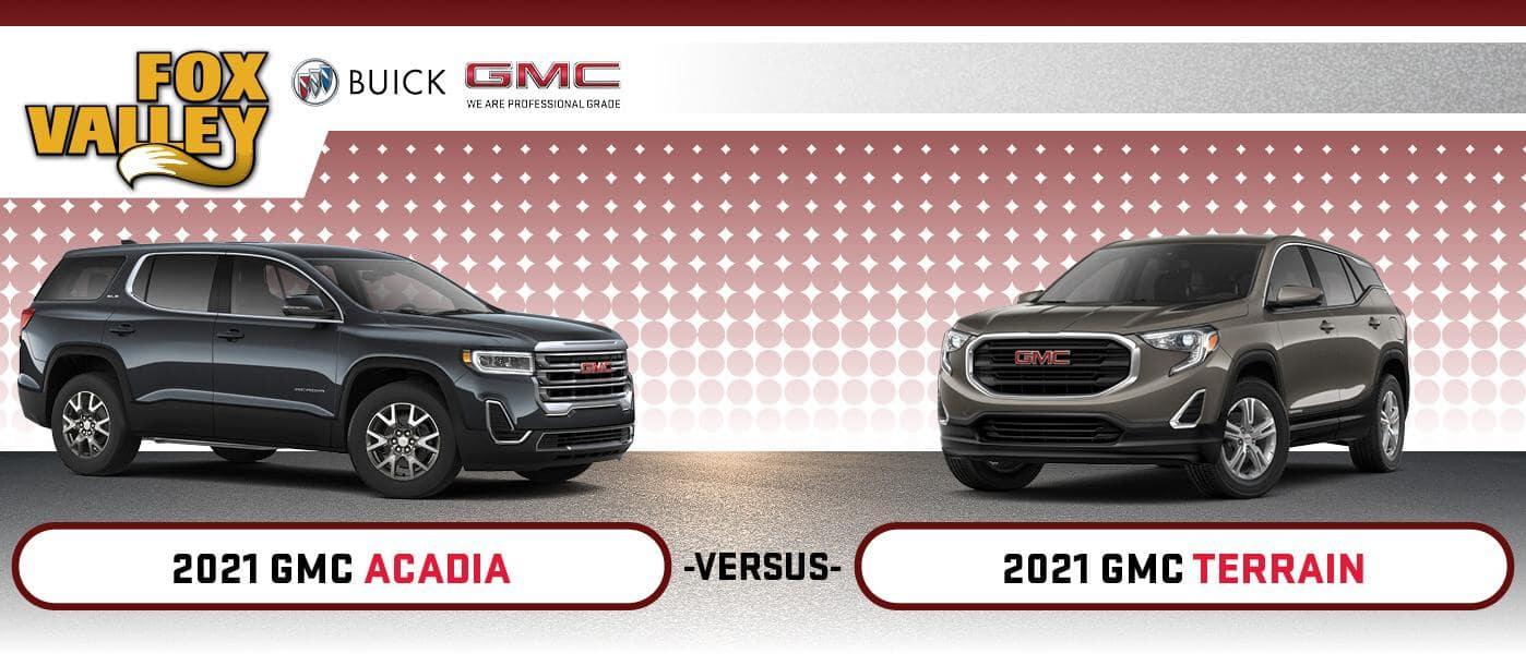 2021 GMC Acadia vs. 2021 GMC Terrain