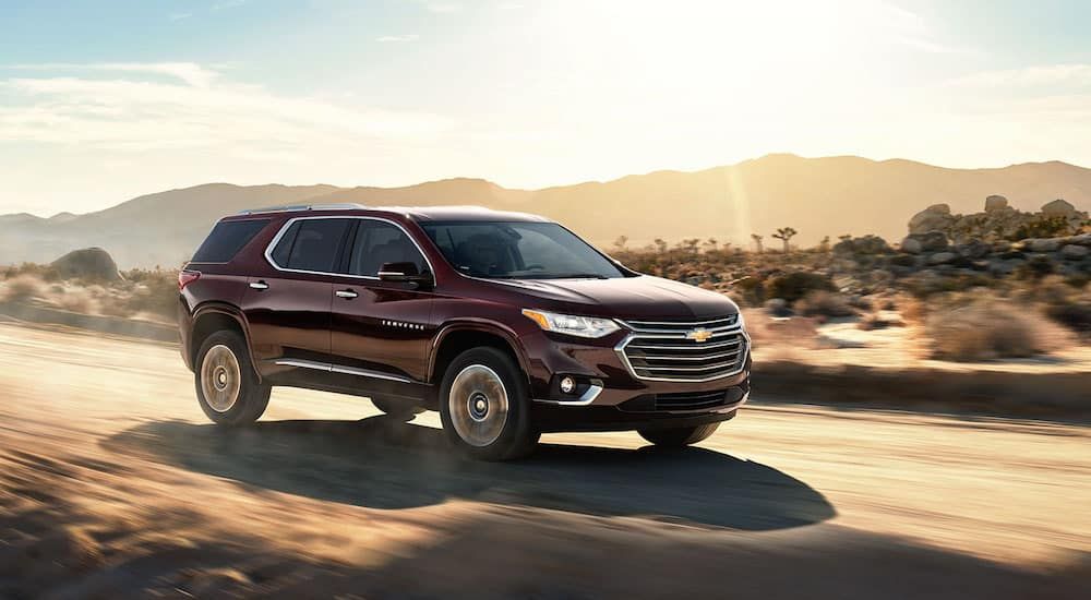 Chevy Traverse driving in the desert