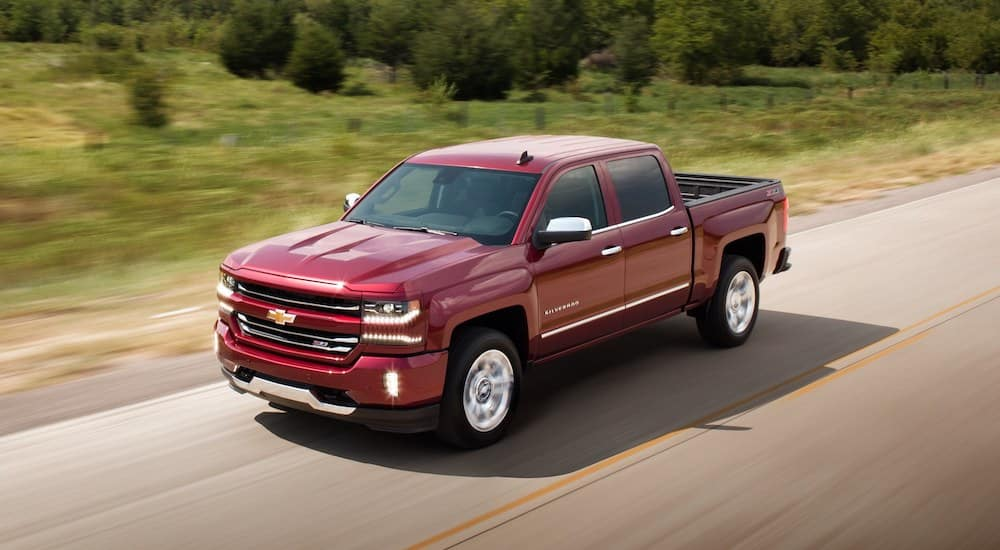 Chevy Silverado Driving on the Open Road