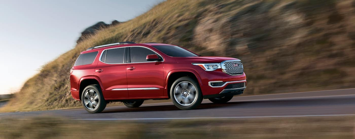 GMC Acadia Danali Driving on a Mountain Road