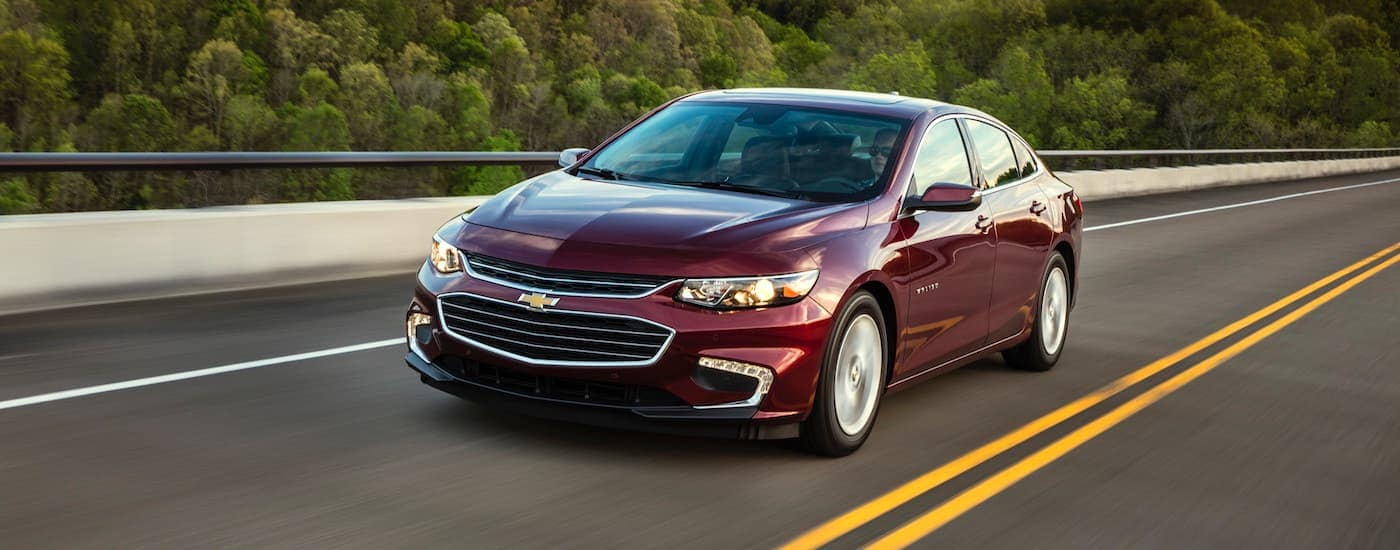 Chevy Malibu Driving On The Road