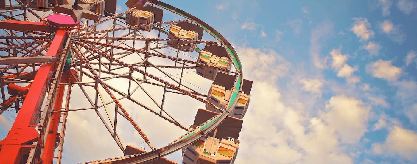 A ferris wheel at the State Fair of Texas is shown.