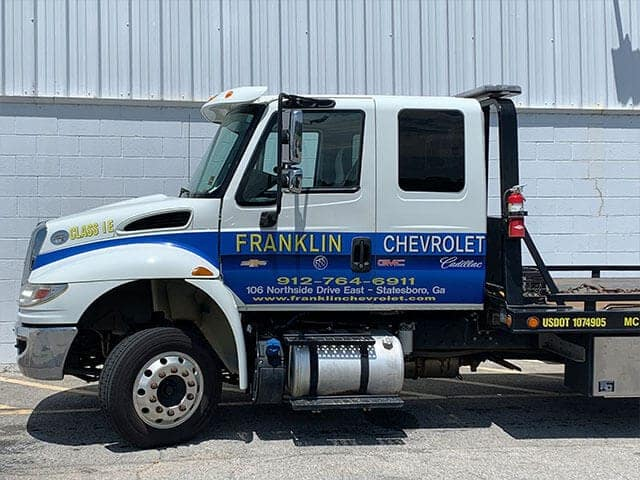 Closeup of the tow truck