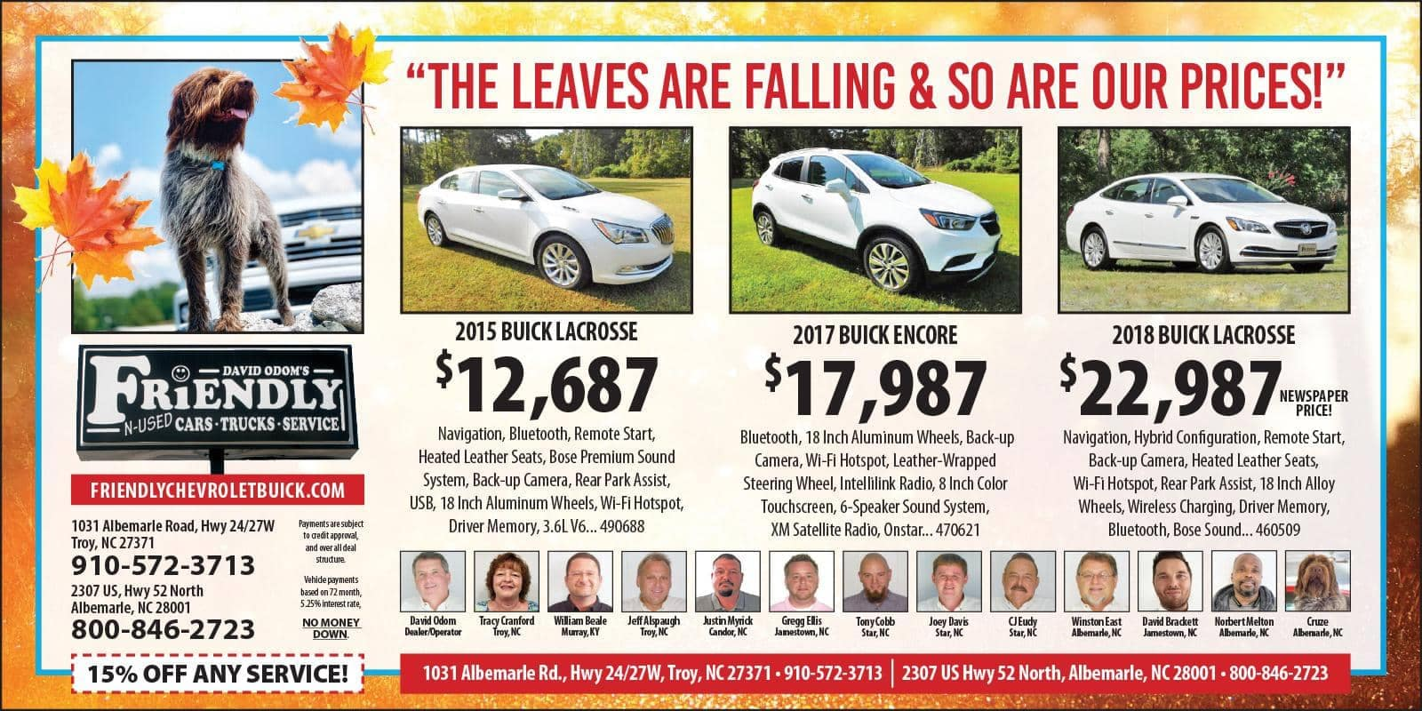 Friendly Chevy Buick Fall Savings