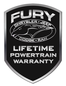 Fury Complimentary Limited Powertrain Warranty Logo
