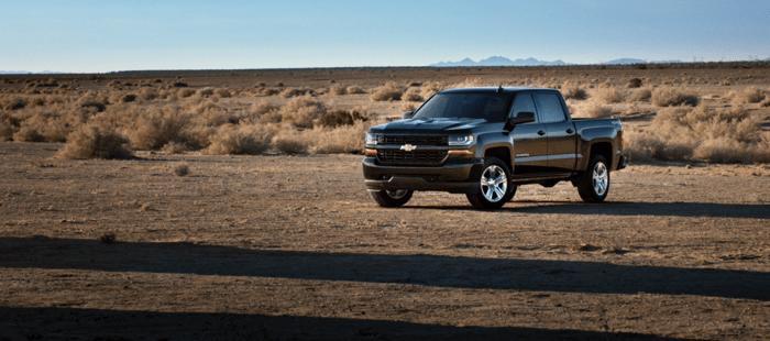 chevrolet truck in desert