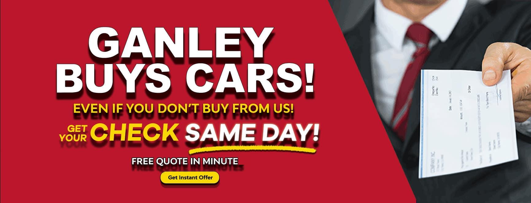 Ganley Buys Cars Value Trade