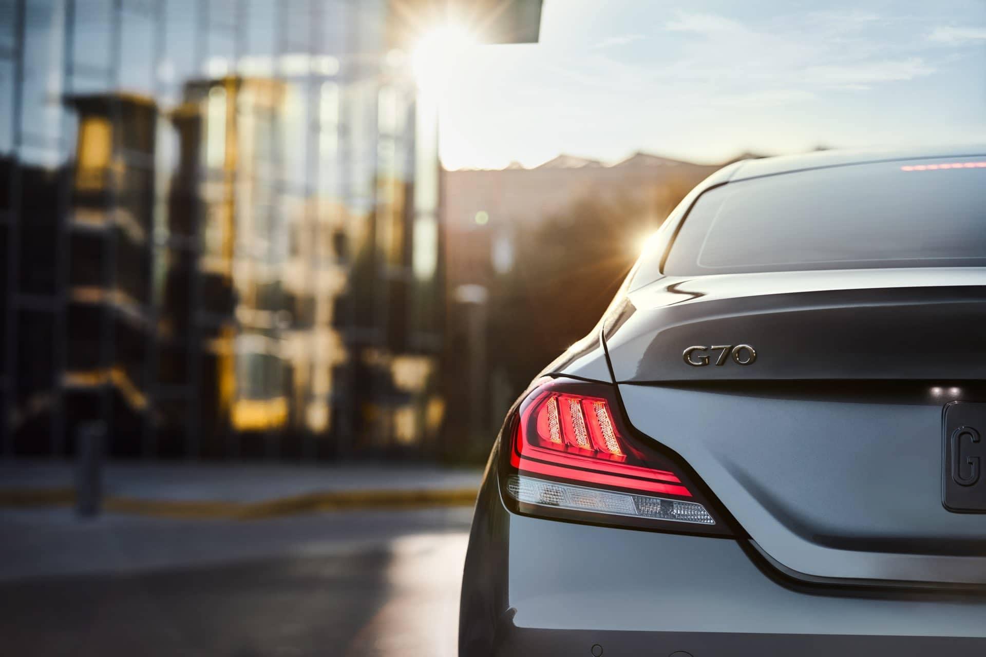 G70 Sport tail light