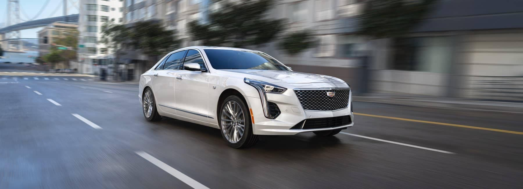 2020 Cadillac CT6 driving down city street
