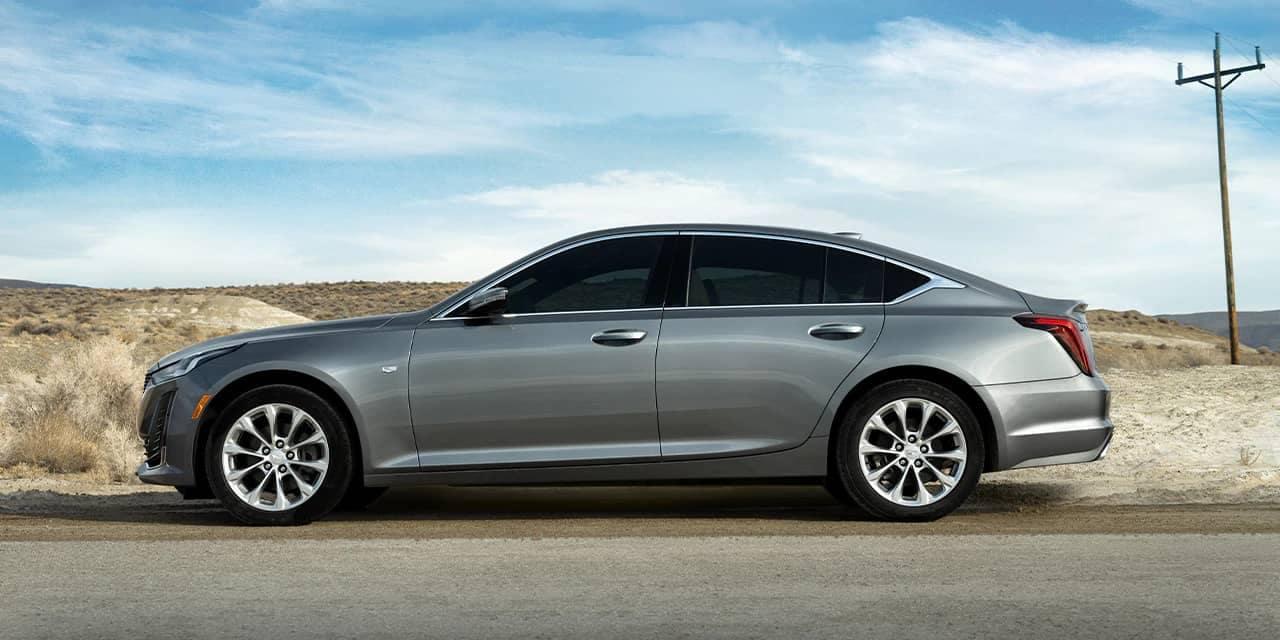 2020 Cadillac CT5 drives on dirt road