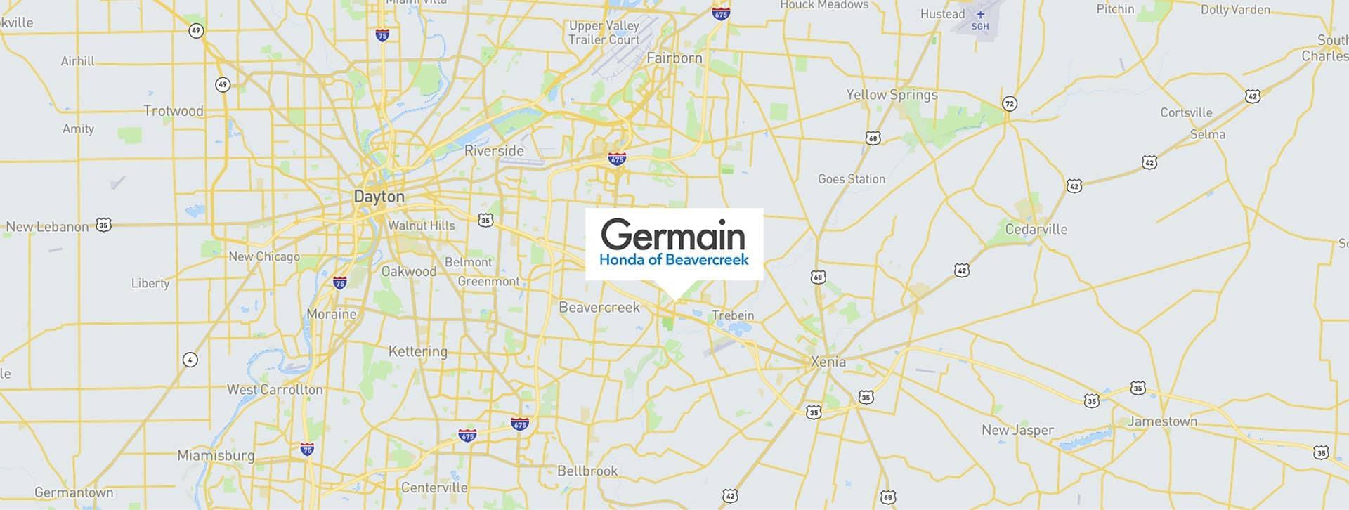Germain Honda Beavercreek map