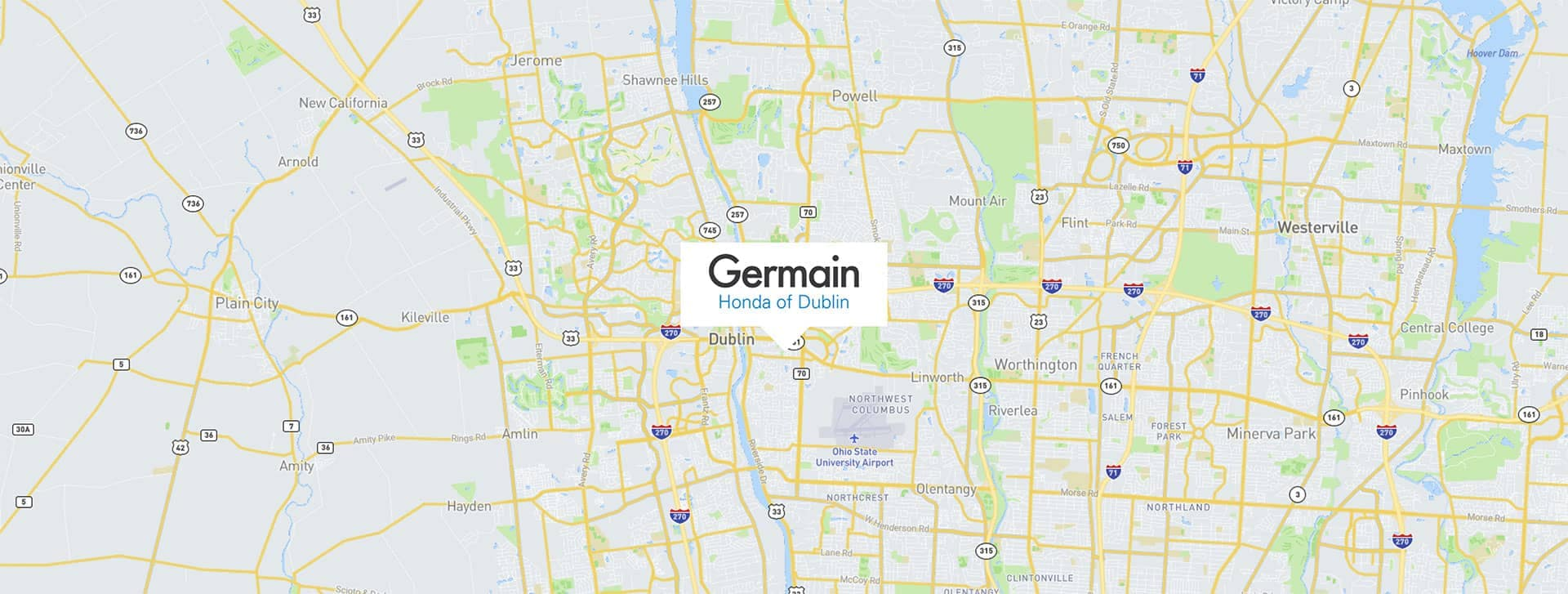 Germain Honda Dublin map