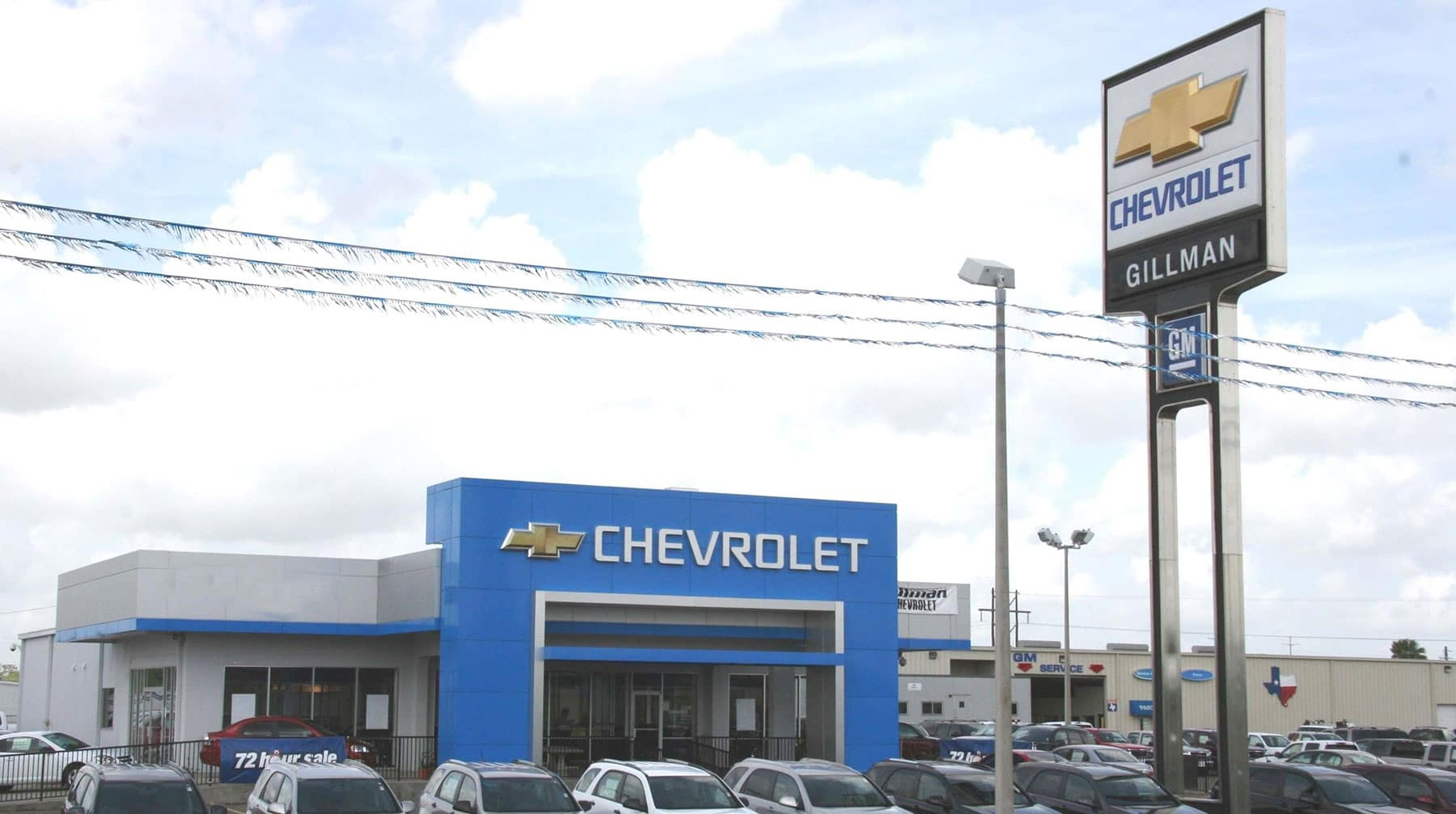 Exterior view of dealership