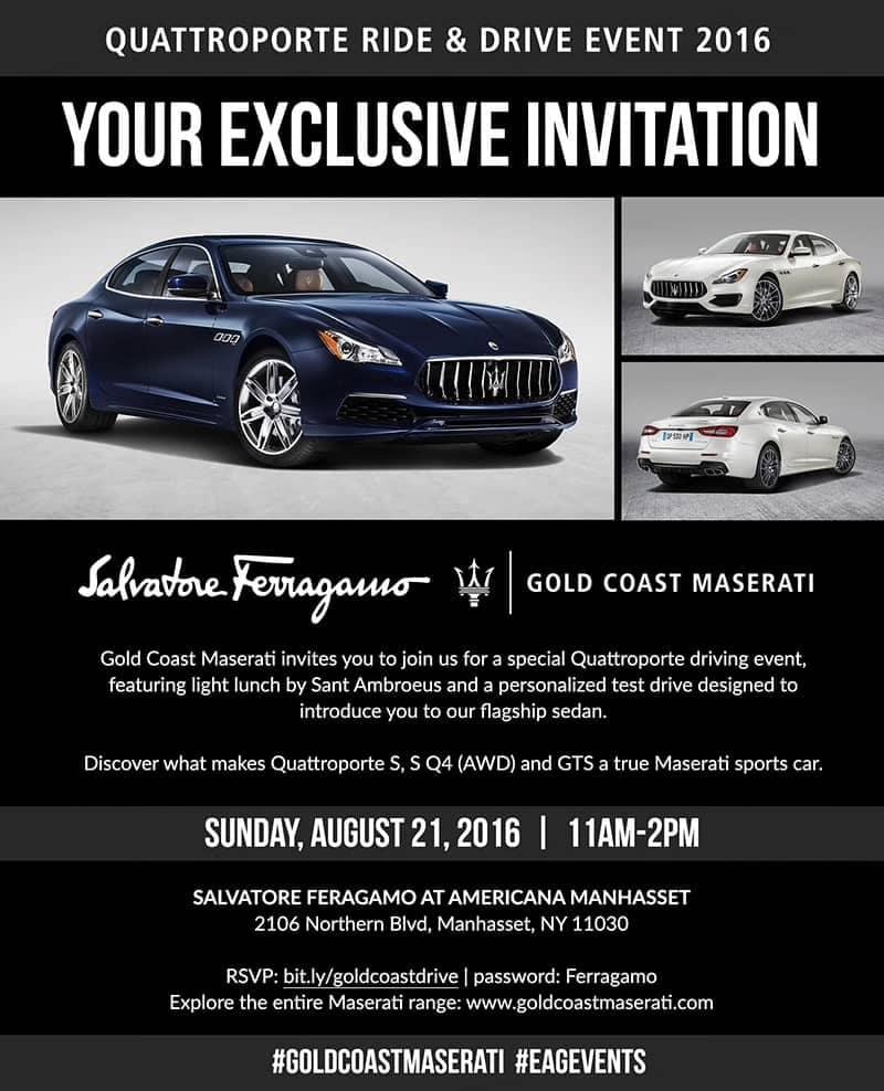 Quattroporte Ride & Drive Event