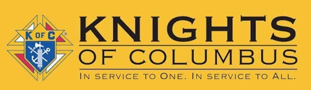 Knights of Columbus - yellow banner