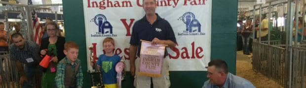 THE INGHAM COUNTY 4-H YOUTH LIVESTOCK SALE